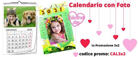 calendario personalizzato 2021 3x2 sconto