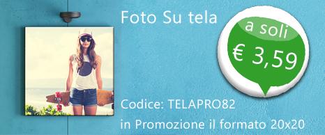 Foto su Tela 20x20 a € 3,5 82% di sconto