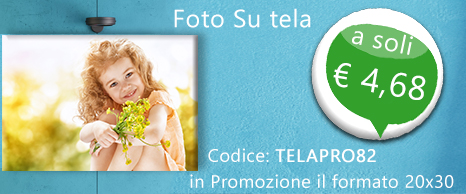 Foto su Tela 20x30 a € 4,68 82% di sconto