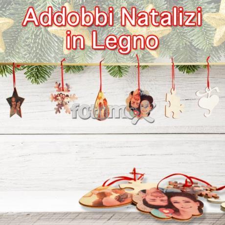 Decorazioni natalizie personalizzate con foto decori in - Decorazioni natalizie in legno ...