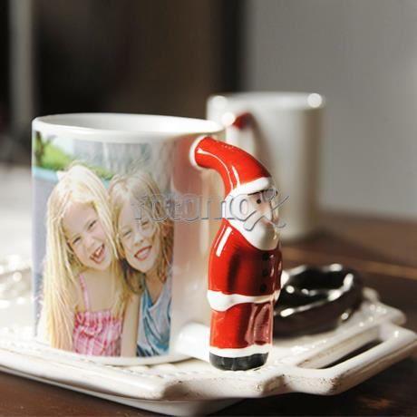 Tazza di natale personalizzata con foto tazza in for Tazze da regalare a natale