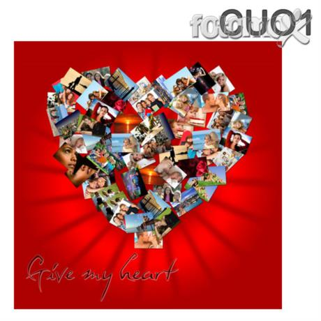Stampa Su Tela Collage A Forma Di Cuore Idea Regalo Originale Per I
