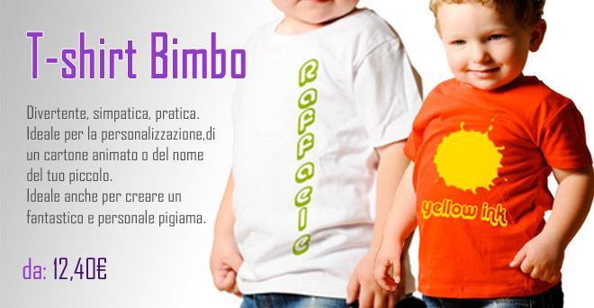 Abbigliamento Bambino personalizzato con foto o grafiche - stampa e ... 71d40679d6f6