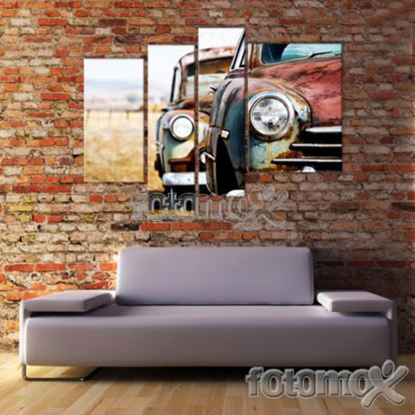 Foto su tela divisa in 4 pannelli stampe di tele in for Stampe astratte su tela